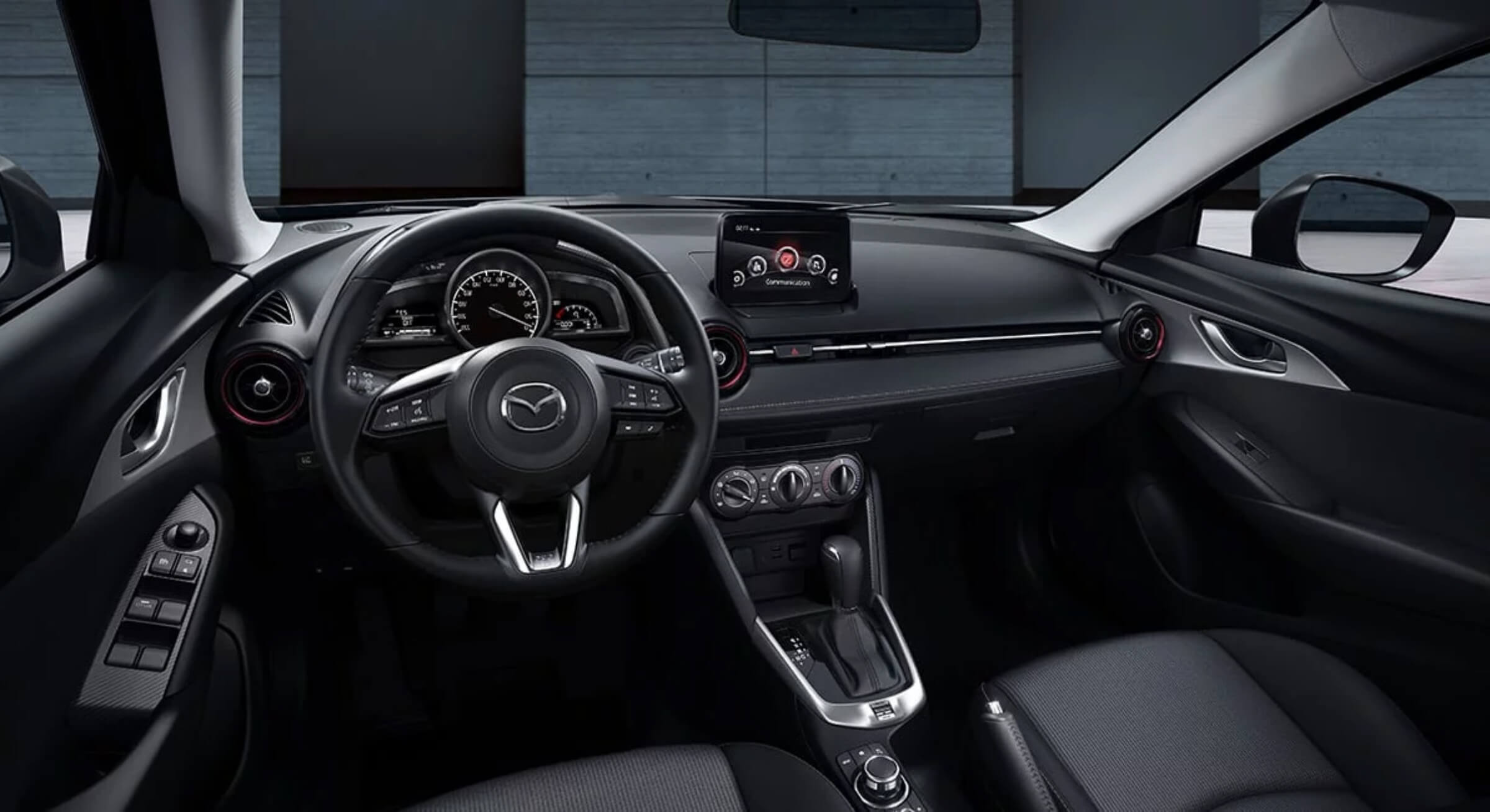 Black Cloth Mazda Cx3 Interior Foto 2